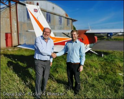Mike Catterall completes his AOPA Aerobatic Course. - Click to view high resolution version