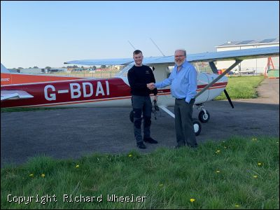 Luke Rhodes gains his Aerobatic Certificate - Click to view high resolution version